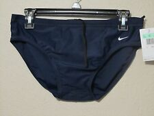 Nike Racing Swim Suit Briefs Competitive Mens Swimming 93166 Navy Blue 34 36 Nwt