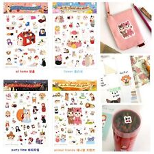Kawaii Cats Decorative Diary Stickers Paper Crafts Gift Card Scrapbook Label Tag