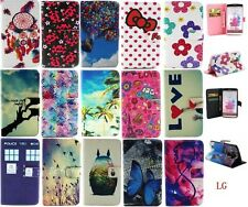 Butterfly Bow Totoro PU Leather Wallet Card Stand Flip Cover Case for LG G2/G3