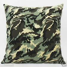 FFA-180 CAMOUFLAGE ARMY Top Quality Canvas Cushion/Pillow Cover Custom Size