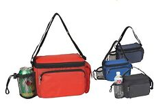 Waterproof Durable Lunch Insulated Cooler Tote Bag Box w/ Shoulder Strap 9""