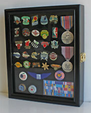 Pin and Medal  Display Case Wall Shadow Box Cabinet  with Glass Door, PC02