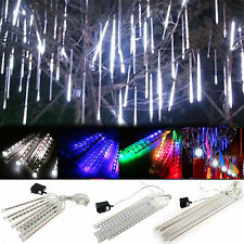 Meteor Shower Falling Star Rain Drop Icicle Snowfall LED Xmas String Light Lamps