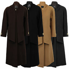 Ladies Overcoat Wool Cashmere Russian Style Coat Womens Jacket Scarf Long Winter