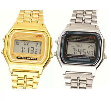 Classic Retro Vintage Gold - Silver Digital Watch