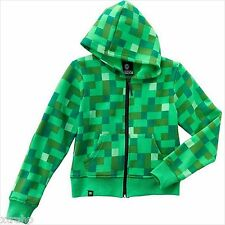 Minecraft Creeper (No Face) Zip Up Hoodie Youth Boy Kids Costume Officially Jinx