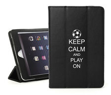 For iPad 2 3 4 Air Mini Leather Smart Case Cover Stand Keep Calm Play Soccer