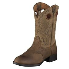 Ariat Western Boots Boys Heritage Stockman Cowboy Brown 10001798