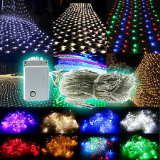 Led Xmas Lightings Outdoor Stage Evening String Fence Net Mesh Light Lamps Bulbs