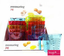 Colorful Measuring Jug 600 ml Plastic Clear Transparent Jug Cup FBA30264