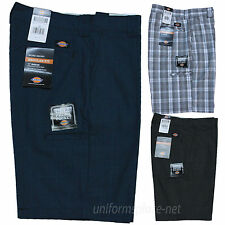"Mens Dickies Shorts 11"" Plaid Work Short W/ Cell Pockets Regular fit WR984"