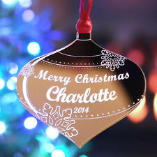 Personalised Christmas Tree Decoration Merry Christmas Bauble Gift