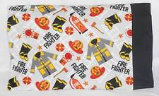 PILLOWCASE Travel Toddler FireFIGHTER RESCUE Personalized FREE 13x18 Flannel Boy