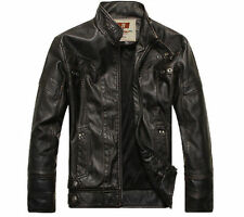 2014 NEW Fashion Men's leather motorcycle coats jackets washed leather coat