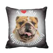 iLeesh i Love My English Bulldog Luxury Throw Pillow-Great Gift For a Pet Lover