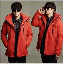 New Winter Stylish Short Hooded Thick Mens Cotton Padded Coat Jacket Outwear 080