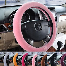 Multi-Color Fuzzy Furry  Car Steering Wheel Glove Cover Fluffy Fur Fiber Warm