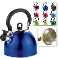 2.5L Whistling steel Kettle for Camping Kitchen Hob Gas Electric Induction NEW