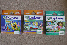 LeapFrog Explorer LeapPad Dora the Explorer or SpongeBob Squarepants game /eBook