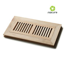 Unfinished Wood Flush Mount Floor Register Grille Vent with 3 Species in 8 Sizes