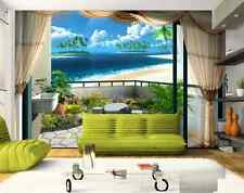 3DWindow Island Beach A Wall Paper Wall Print Decal Wall Deco Indoor wall Mural