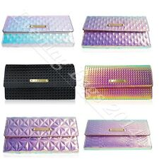 New Ladies Girls LYDC Classic Wallet Snake Skin Clutch Purse Pink White Black 71
