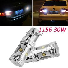 30W LED 1156 BA15S White High Power Car Backup Tail Turn Reverse Light Lamp Bulb