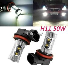 50W White H11 LED High Power Car Driving Fog Daytime Running Light Lamp bulb DRL