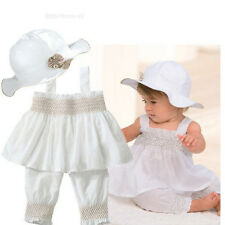 New Cute Girls Dress Baby Newborn Girl Clothes 3 pcs White Hot Outfits Sets TYA9
