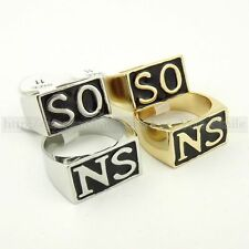 1 Pcs Steampunk Men SONS Ring SO NS Hells Angels Gold Silver Rings Size 9~14