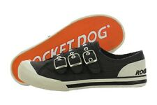 Rocket Dog Jelissa Aviator Canvas Casual Black Shoes Slipon Medium (B, M) Womens