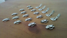 5, 20 or 50 Blank Stainless Steel Shoe Clips Clip-On Elegant, Bridal Accessories