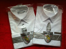 "Two Boys White ZECO Shirts Long/Short Sleeve -Ages 3 years(11"") to 15 years(15"")"