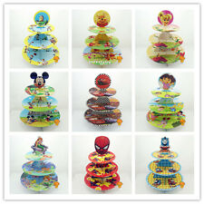 Disney 3-Tiered Cupcake Holder Tower Wrapper Topper Party Decor Dessert Display