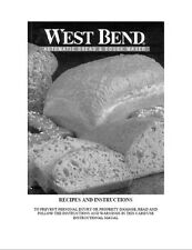 West Bend Bread Machine Manual 41045 41047 41048 41050 41051 41052 41053 41054