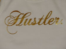 Hustler Gold Logo Womens Ladies Summer Singlet Tank Style Shirt Top -  XS S L