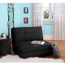 NEW FLIP CHAIR FUTON TEEN STUDIO APARTMENT FOLD OUT TWIN BED FURNITURE DORM LIFE