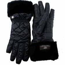 Uggs Ugg Australia Women's Lorien Fab Black Quilted Tech Winter Gloves