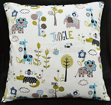 NEW Jungle Animal Cushions Room Kids Home Nursery Cover Insert Decor Furniture