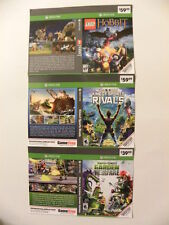 XBOX ONE Game Case Inserts