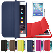 For iPad Air 2 iPad mini 1 2 3 Retina Leather Smart Case Cover+Film+Pen
