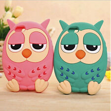 Cartoon Cute 3D Lovely Owl Soft Silicon Back Case Cover For iPhone Mobile Phones