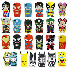 3D Cartoon Superhero Soft Silicone Rubber Case Cover For Apple Samsung HTC LG Z1