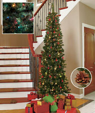 Slim Christmas Tree Prelit Holiday Magic for Tight Spaces in Office or Apartment