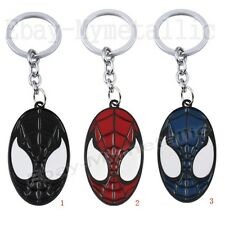 Super Hero Spider-Man Spiderman Head Logo PVC Key Ring Chain