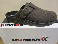 Romika Men's Clog With Felt, Brown, Footboard New!!