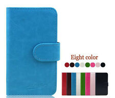 C2 New Smooth Wallet Card Leather Cover Case for Alcatel One Touch Smart Phone