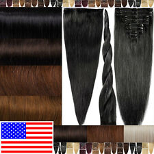 Professional Supplier 100% Good Clip In Remy Human Hair Extensions Full Head E47