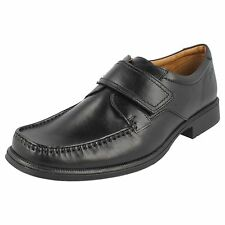 Mens Clarks Black Leather Formal Shoes G Fitting HUCKLEY ROLL