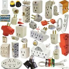 1- Electric Grounding 3 Out let, 3Prong, Wall Tap,Power Strip, Sensor, Swivel UL